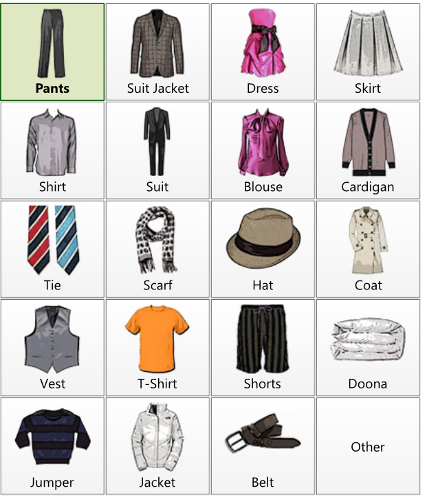Clothing By Type